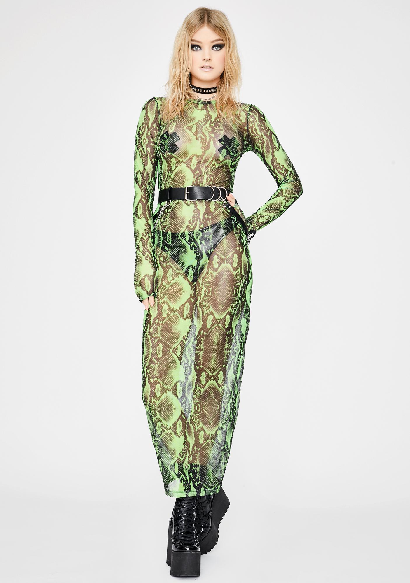 Ivy Berlin Anaconda Mesh Dress