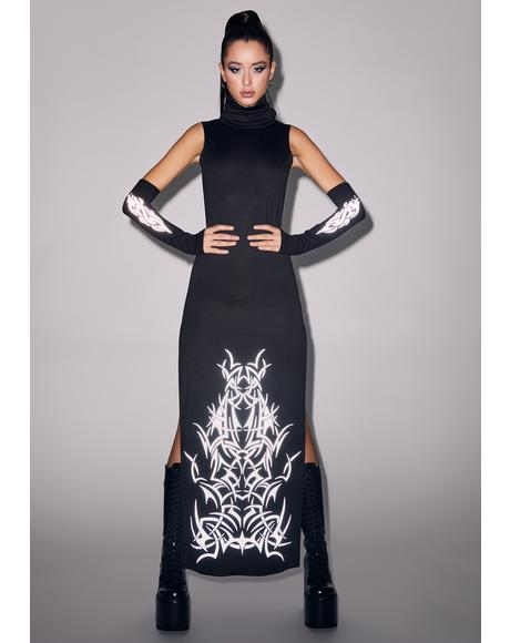So Defenseless Reflective Maxi Dress