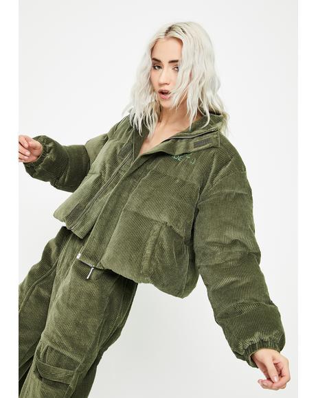 Corduroy Puffer Jacket