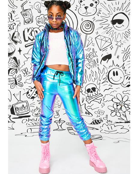 Kids Space Bae Escapade Hologram Joggers