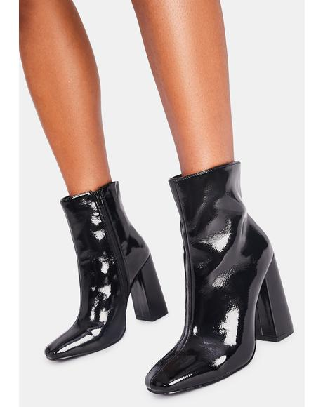 Ink Popularity Contest Vegan Leather Booties