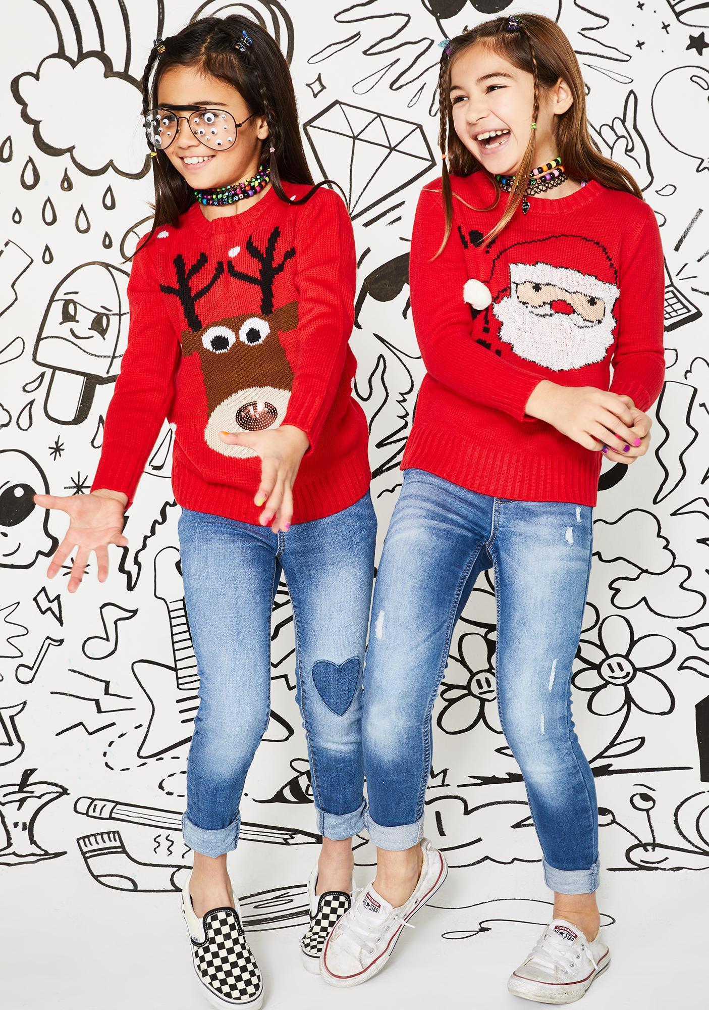 Kids Nice List Santa Sweater