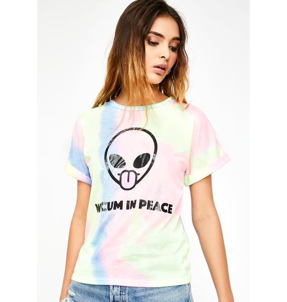 Psycho Rebel We Cum In Peace Tie Dye Tee