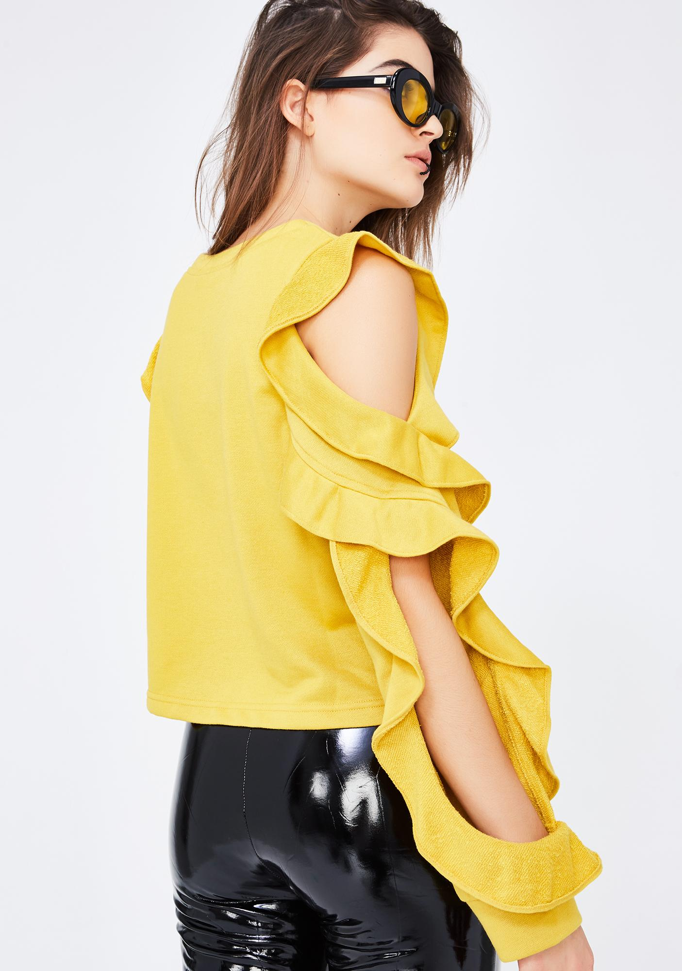 Wave Lengths Ruffled Sweater