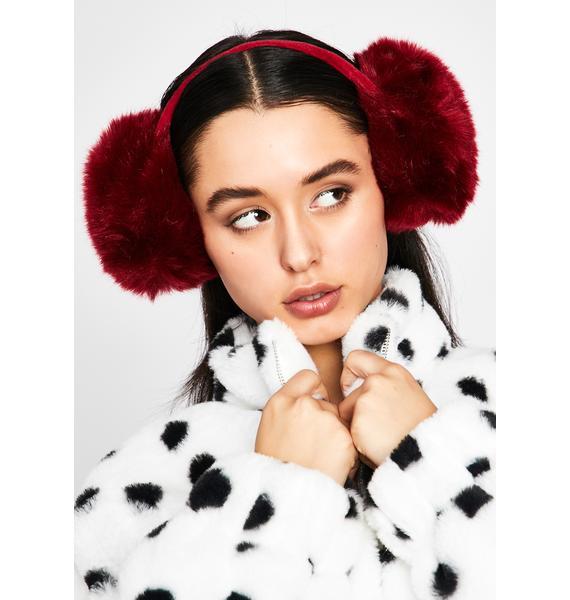 Lit Snow Princess Fur Earmuffs