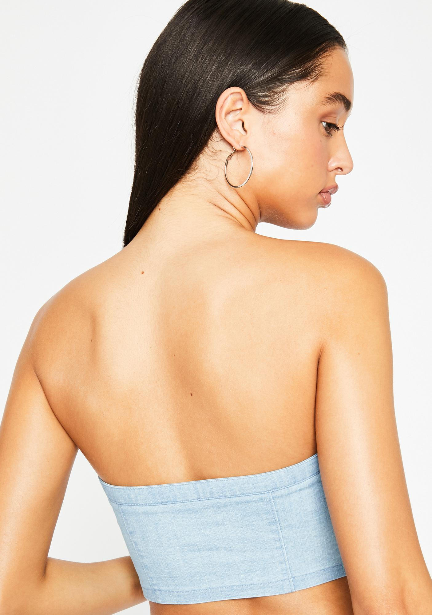 Poster Grl Verified Fatal Lace Up Bandeau