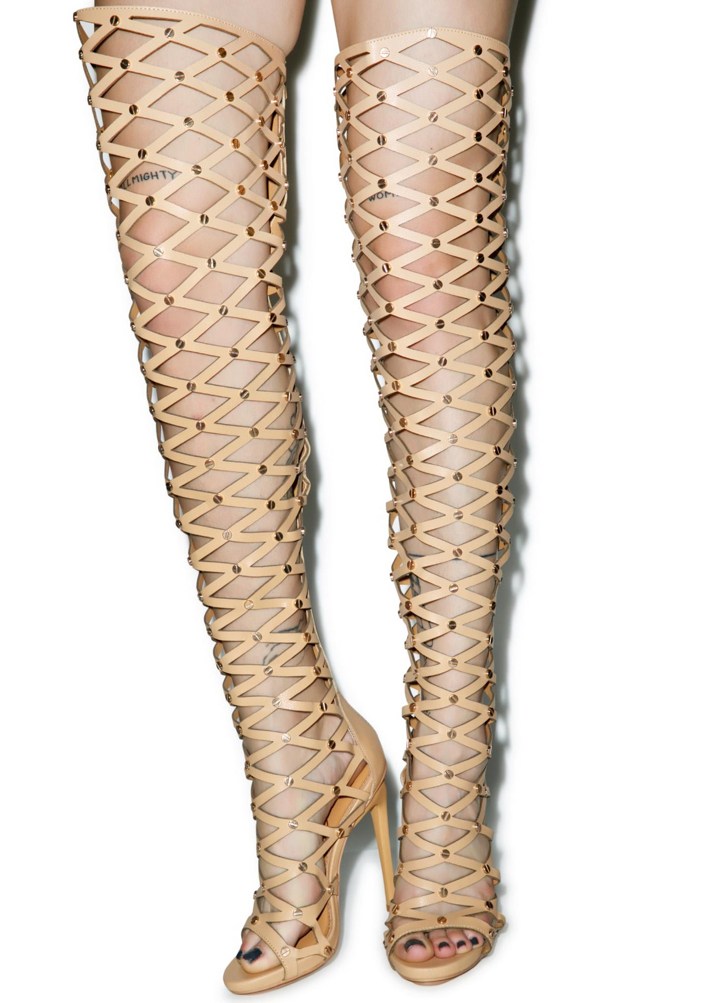 Privileged Fight For It Thigh High Boots