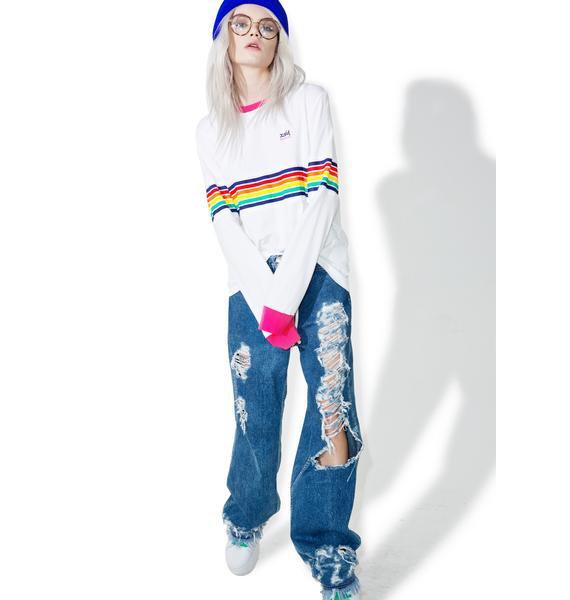 MadeMe x X-Girl Multistripe Longsleeve Tee