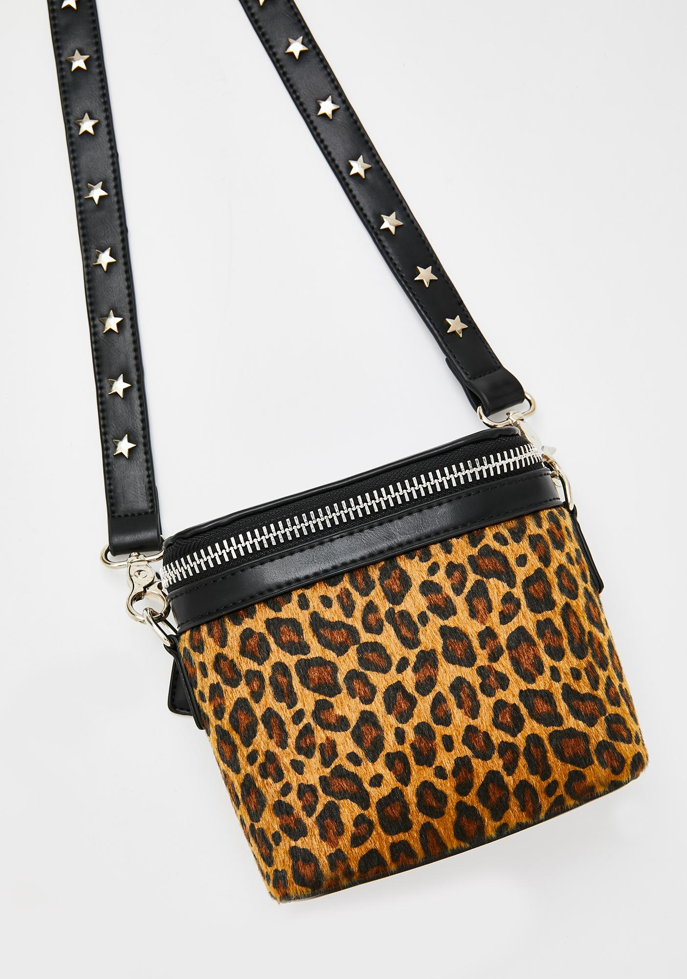 Georgia Mae The Hendrix Mini Leopard Bag