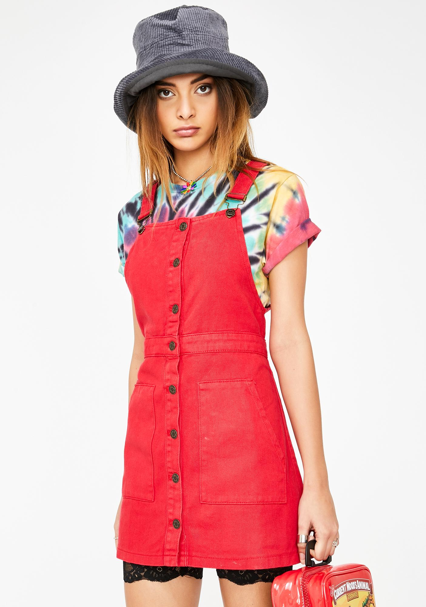 Cool As Ice Overall Dress