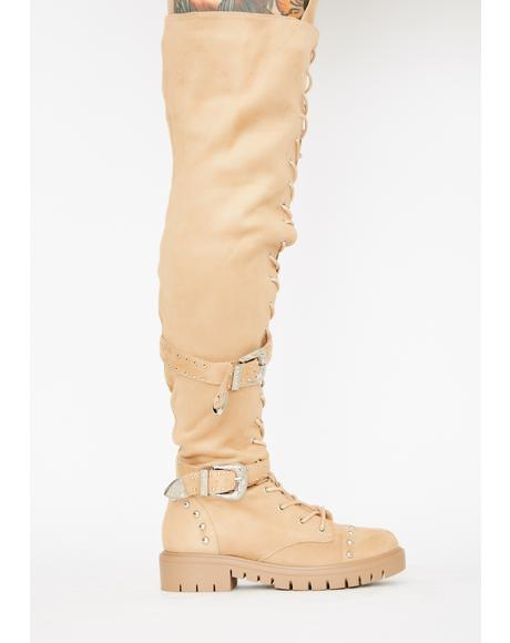 Glamazon Gurl Knee High Boots