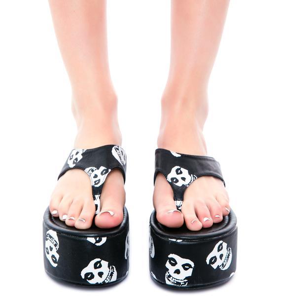 Iron Fist Misfits Platform Sandal