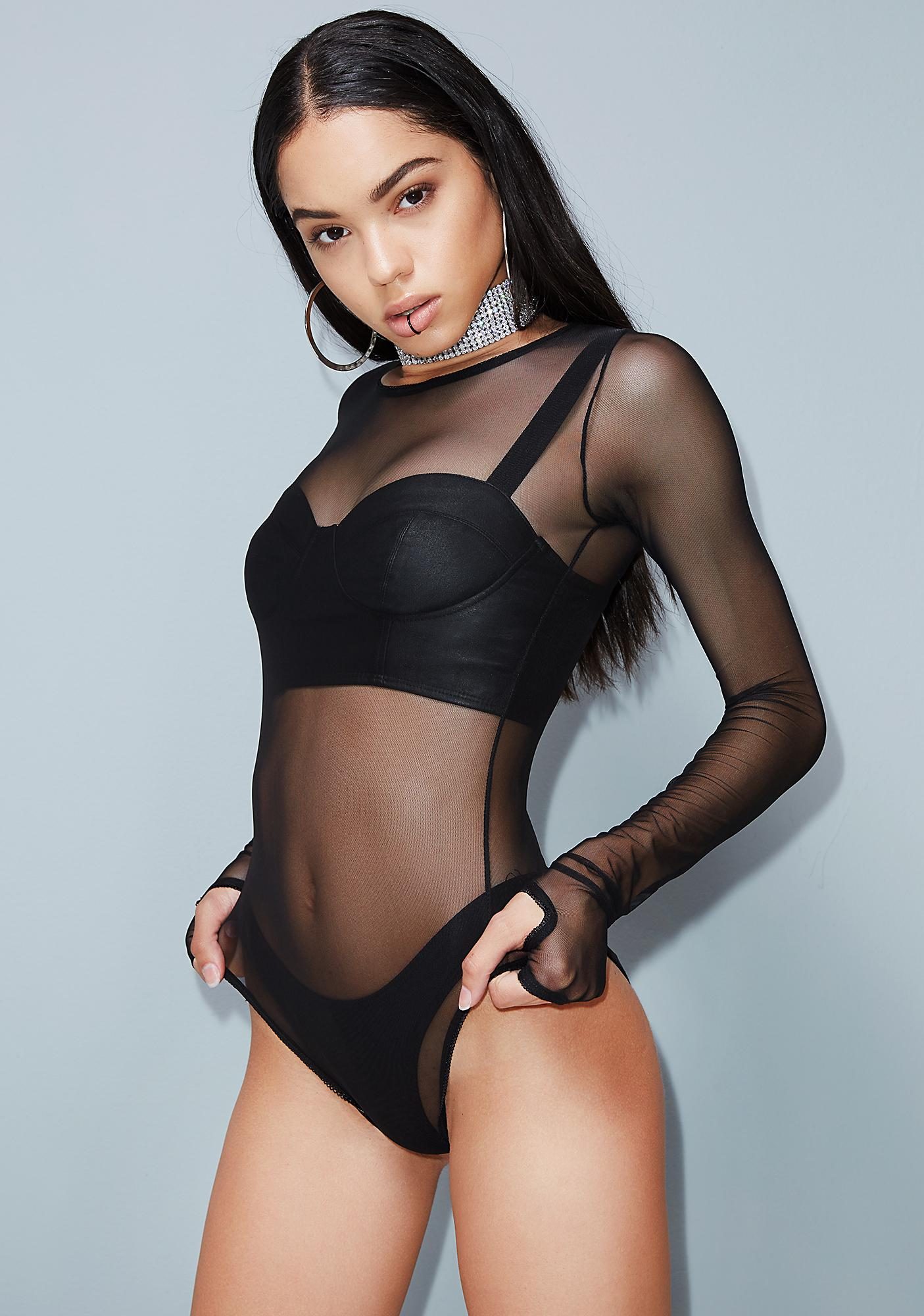 Poster Grl Effortless Sheer Bodysuit