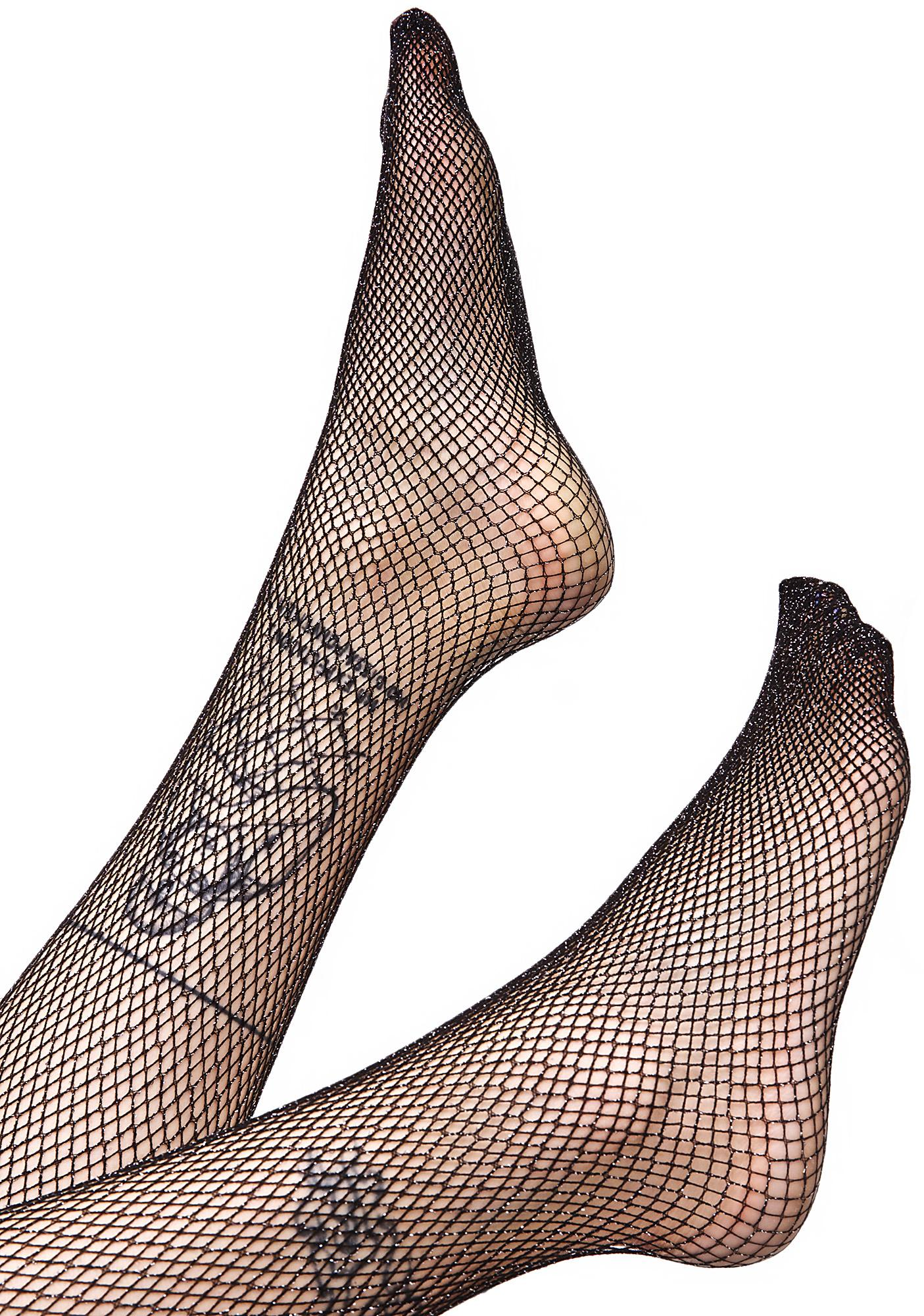 Glitter Game Fishnets