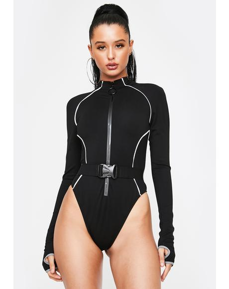 Hashtag Executive Suite Reflective Bodysuit