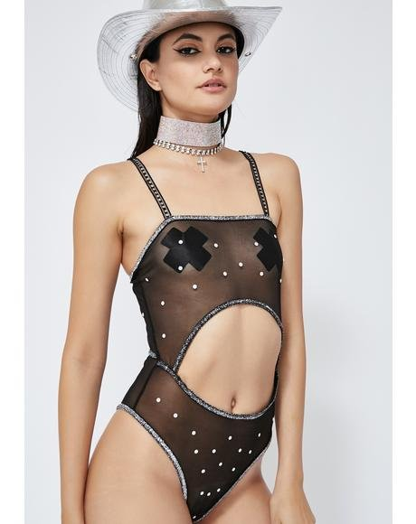 Cosmic Ray Candy Mesh Bodysuit