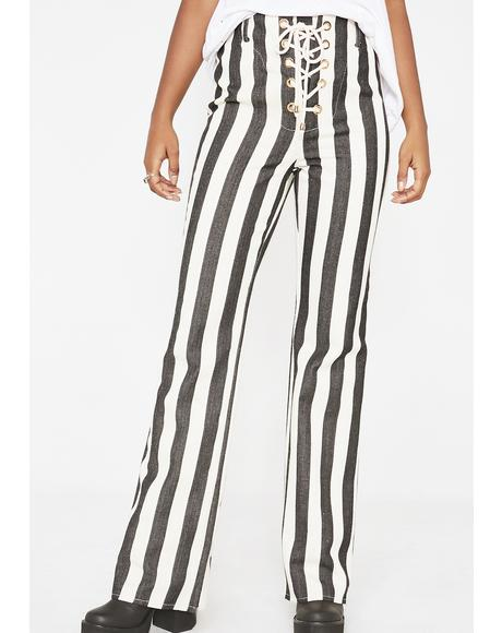 Onyx The Thelma Striped Pants