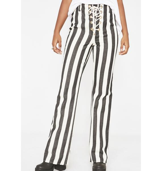 Jagger & Stone Onyx The Thelma Striped Pants