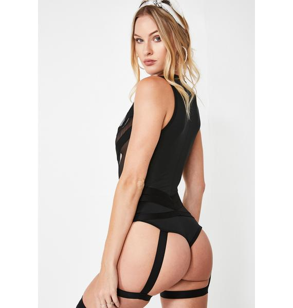 Essential Eye Candy Garter Bodysuit