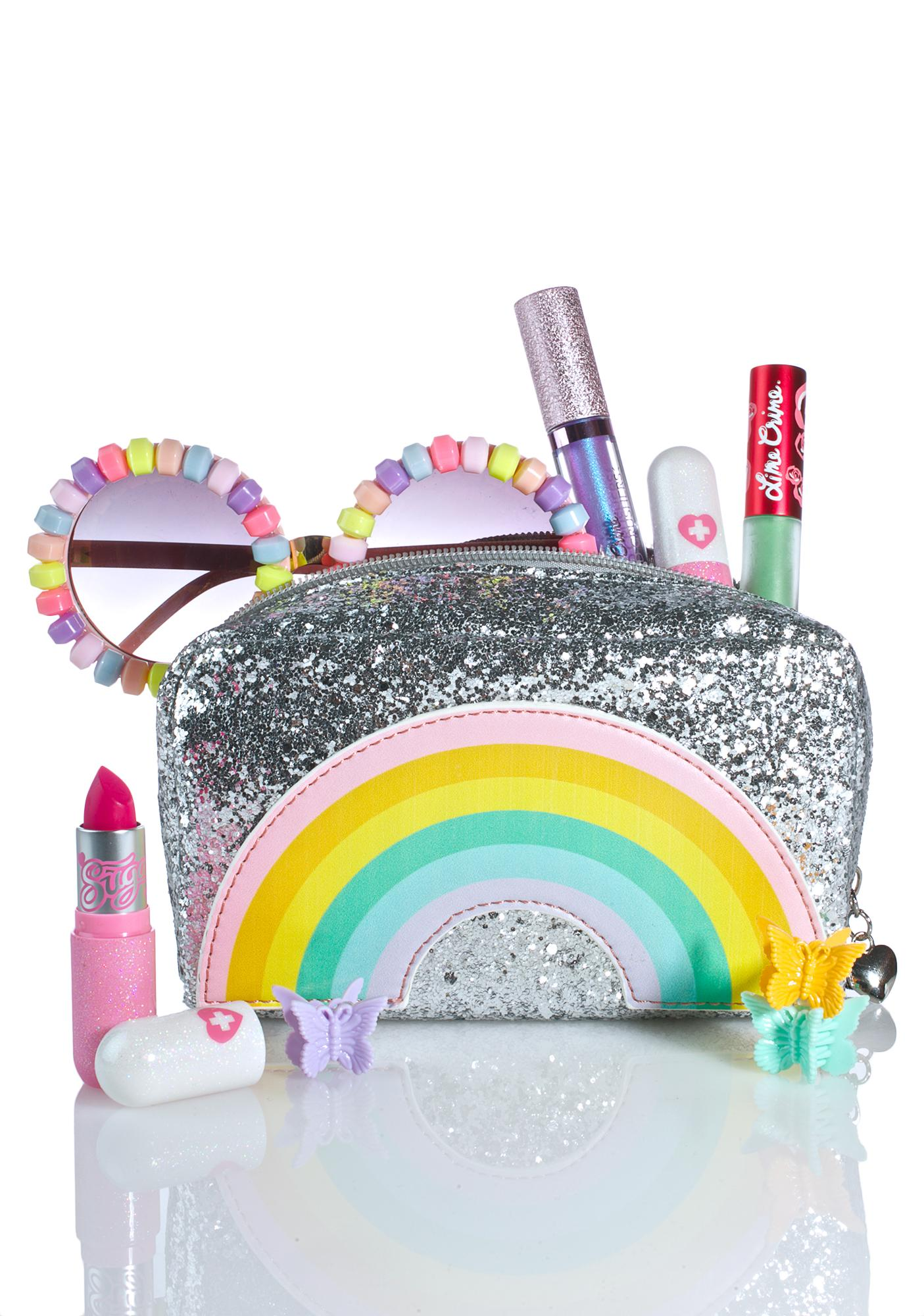 Local Heroes Rainbow Glitter Cosmetic Bag