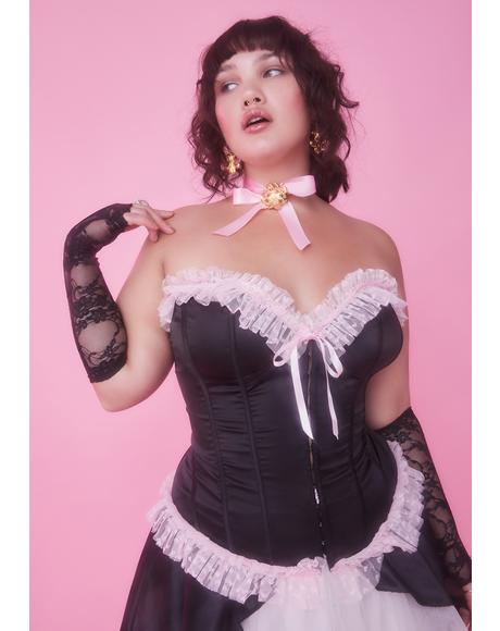 True Stroke Of Midnight Ruffle Corset