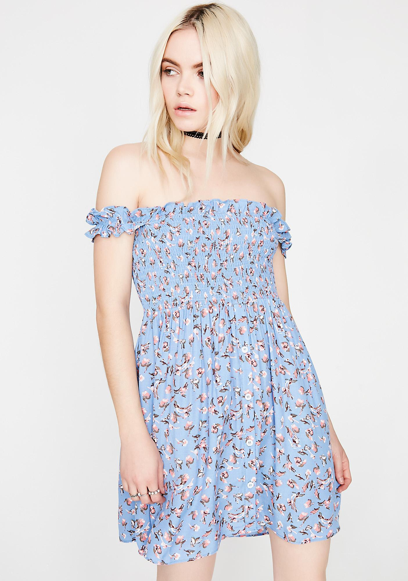 7382da91784c Off The Shoulder Floral Dress