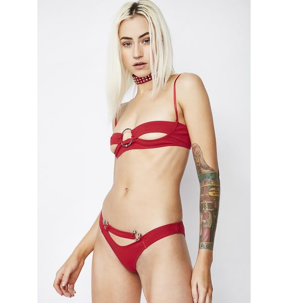 The End Lingerie Carrie Bralette In Red