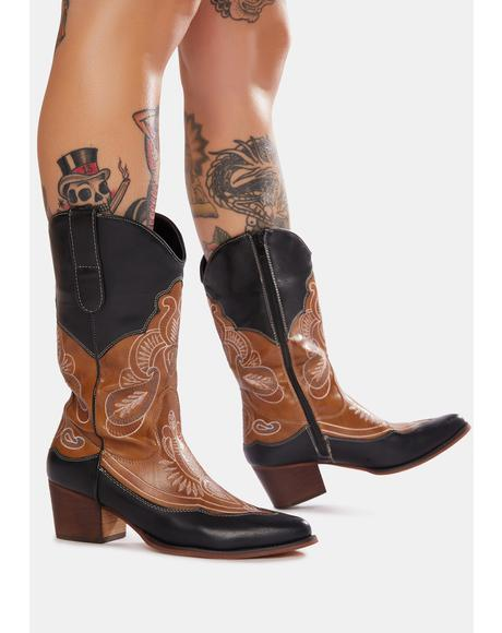 Cocoa Whiskey On The Rocks Cowboy Boots