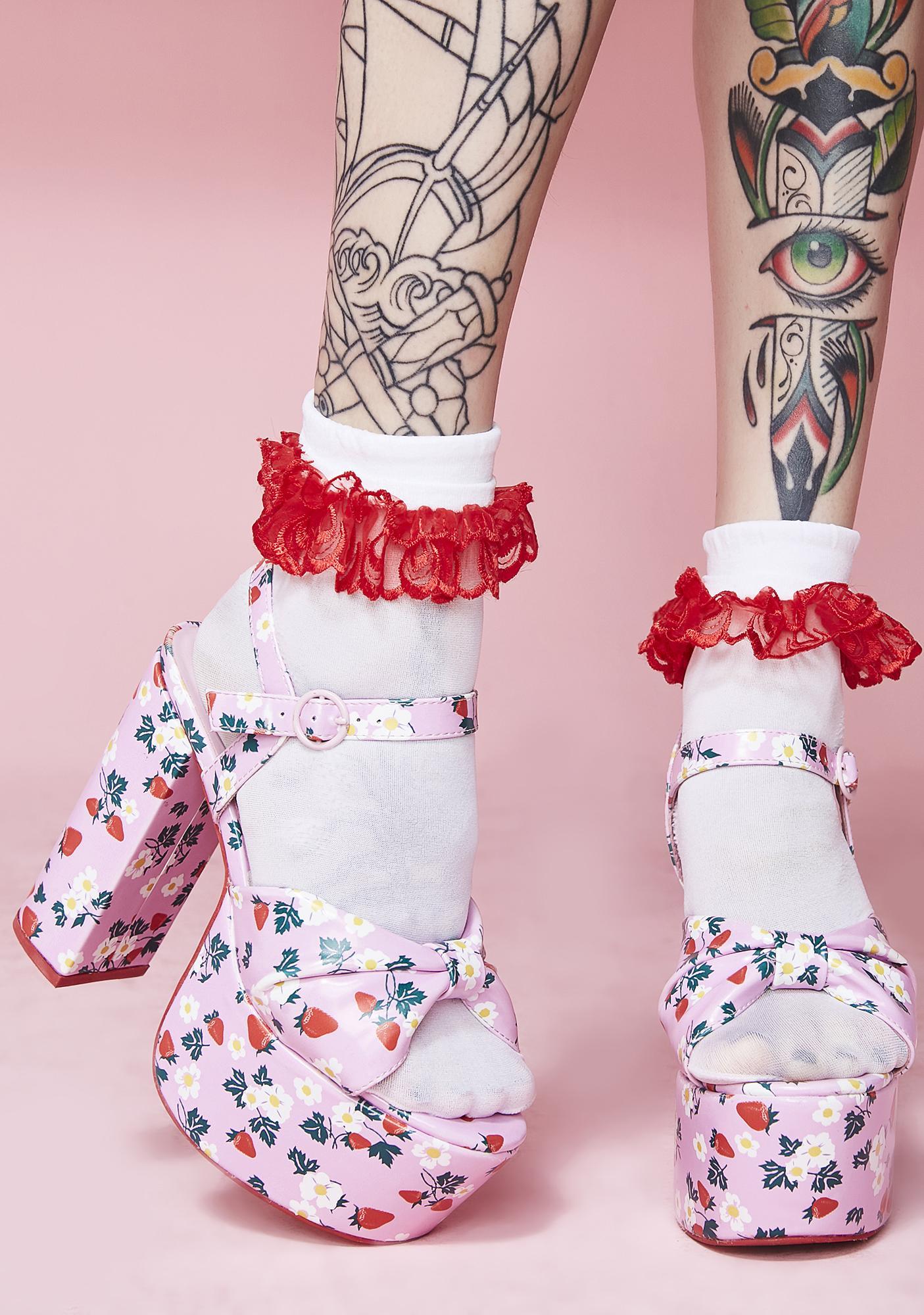 Sugar Thrillz Picked First Platform Sandals