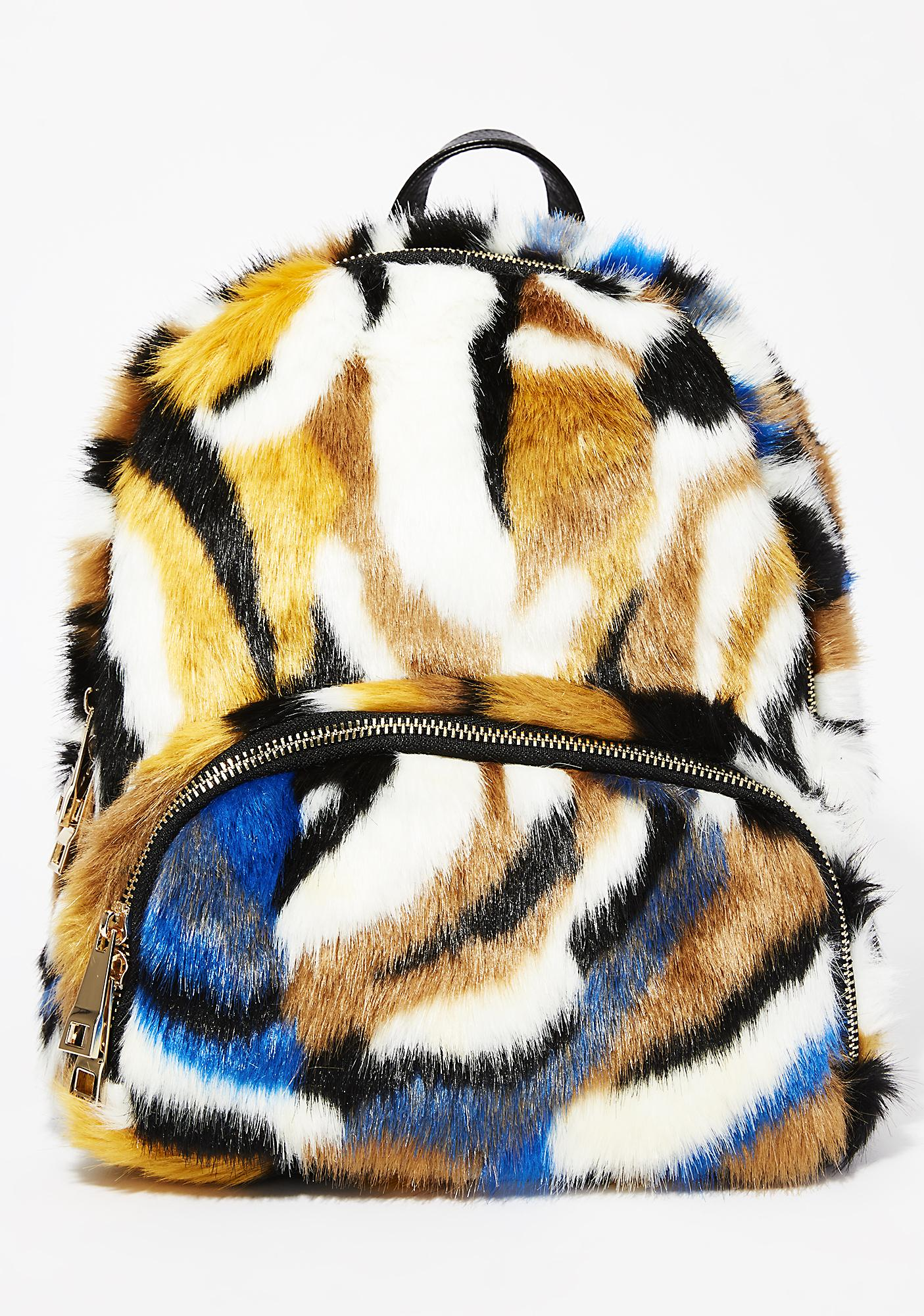 Earn Your Stripes Fuzzy Backpack