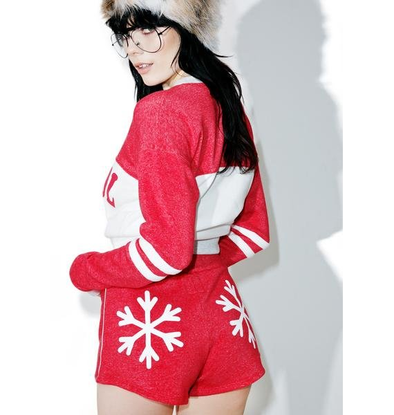 Camp Collection Snowflakes Track Star Shorts