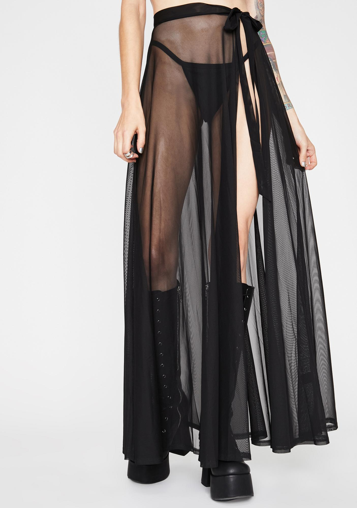 Shadow Play Maxi Skirt