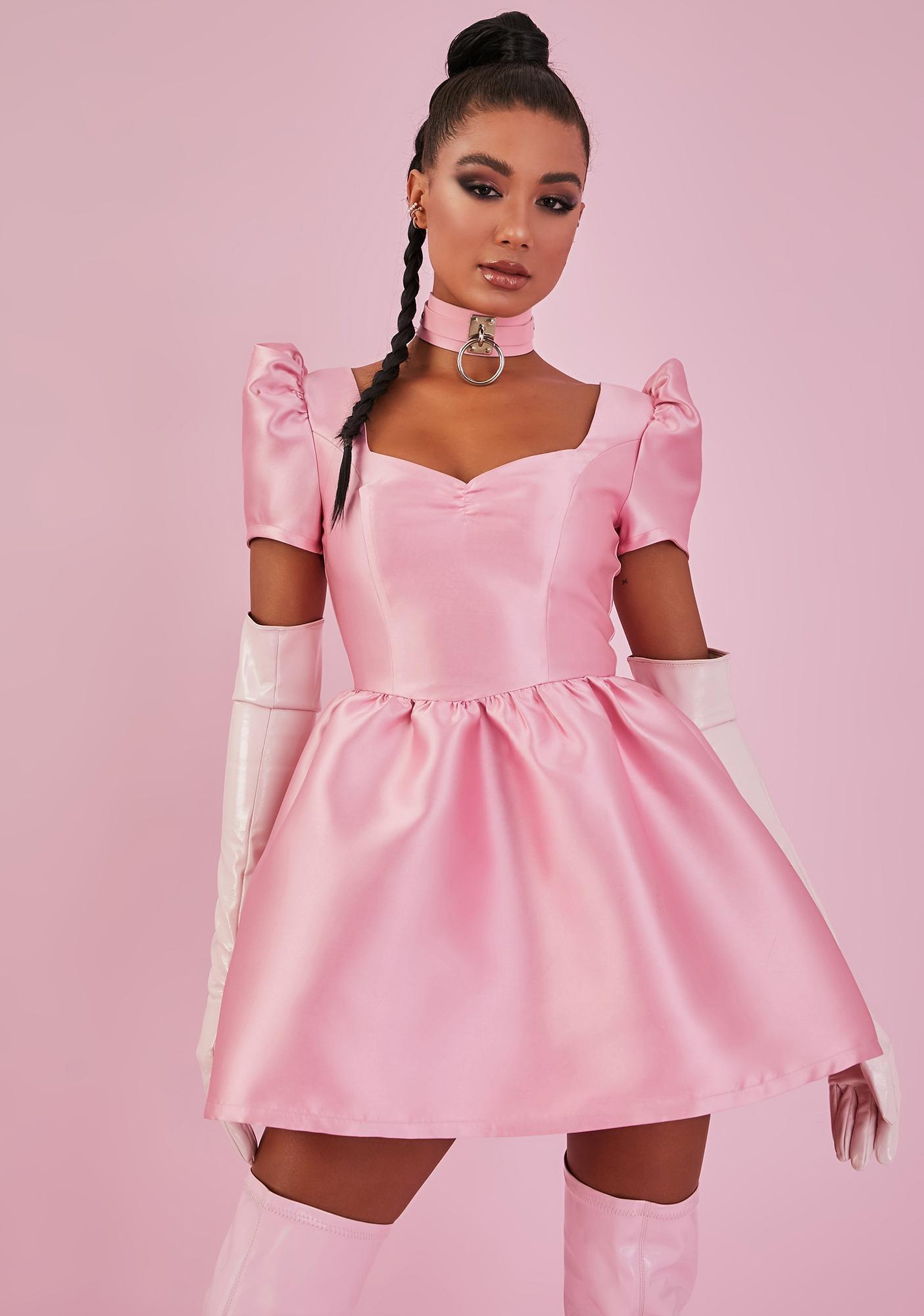 Sugar Thrillz Baby Your Everything Satin Dress