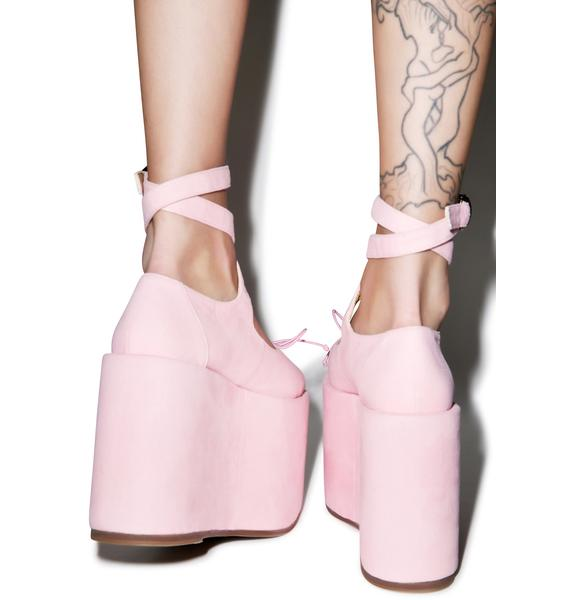 Sugar Thrillz Ballet Bopper Blush Platforms