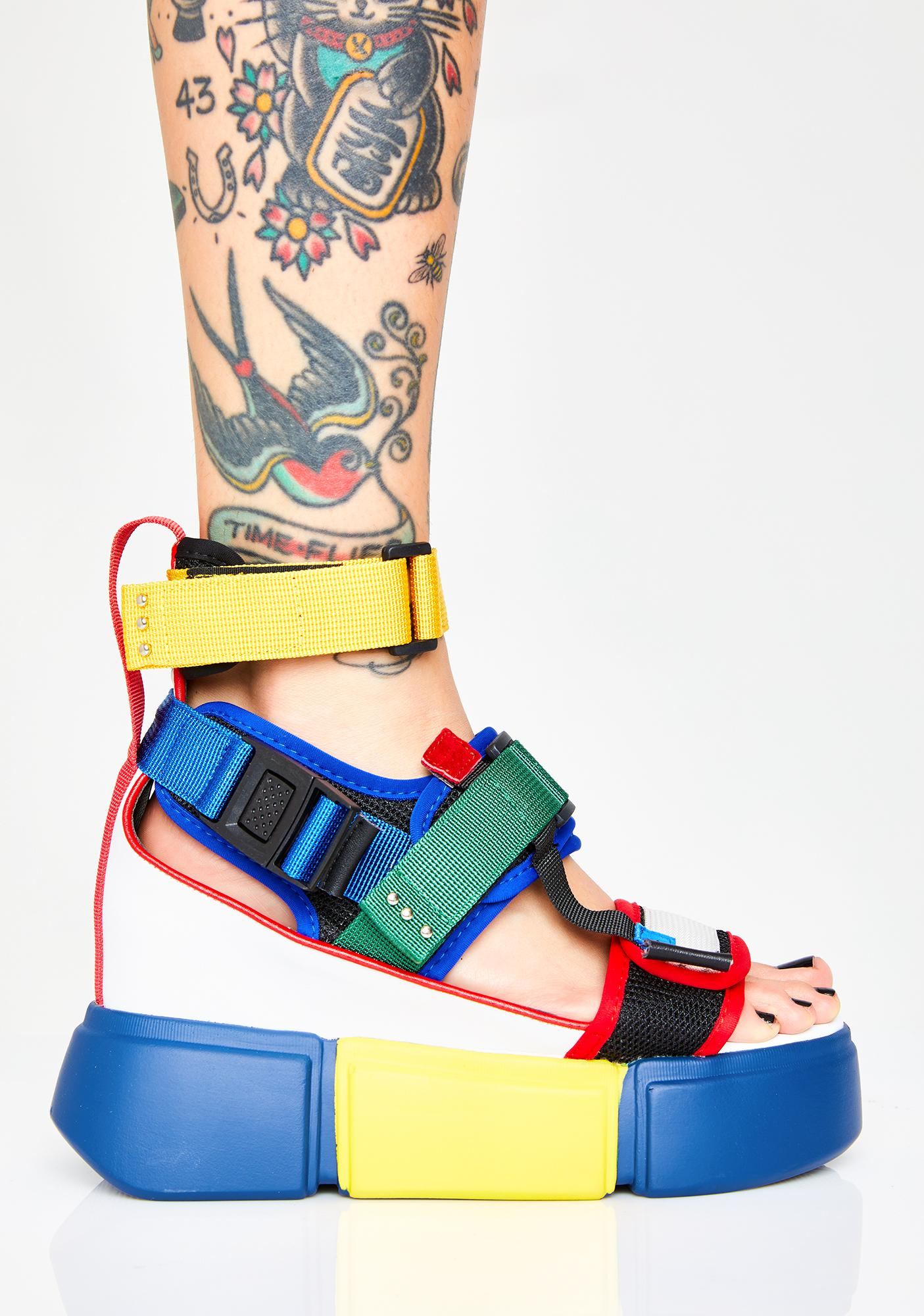 Anthony Wang Star Light Star Brite Platform Sandals