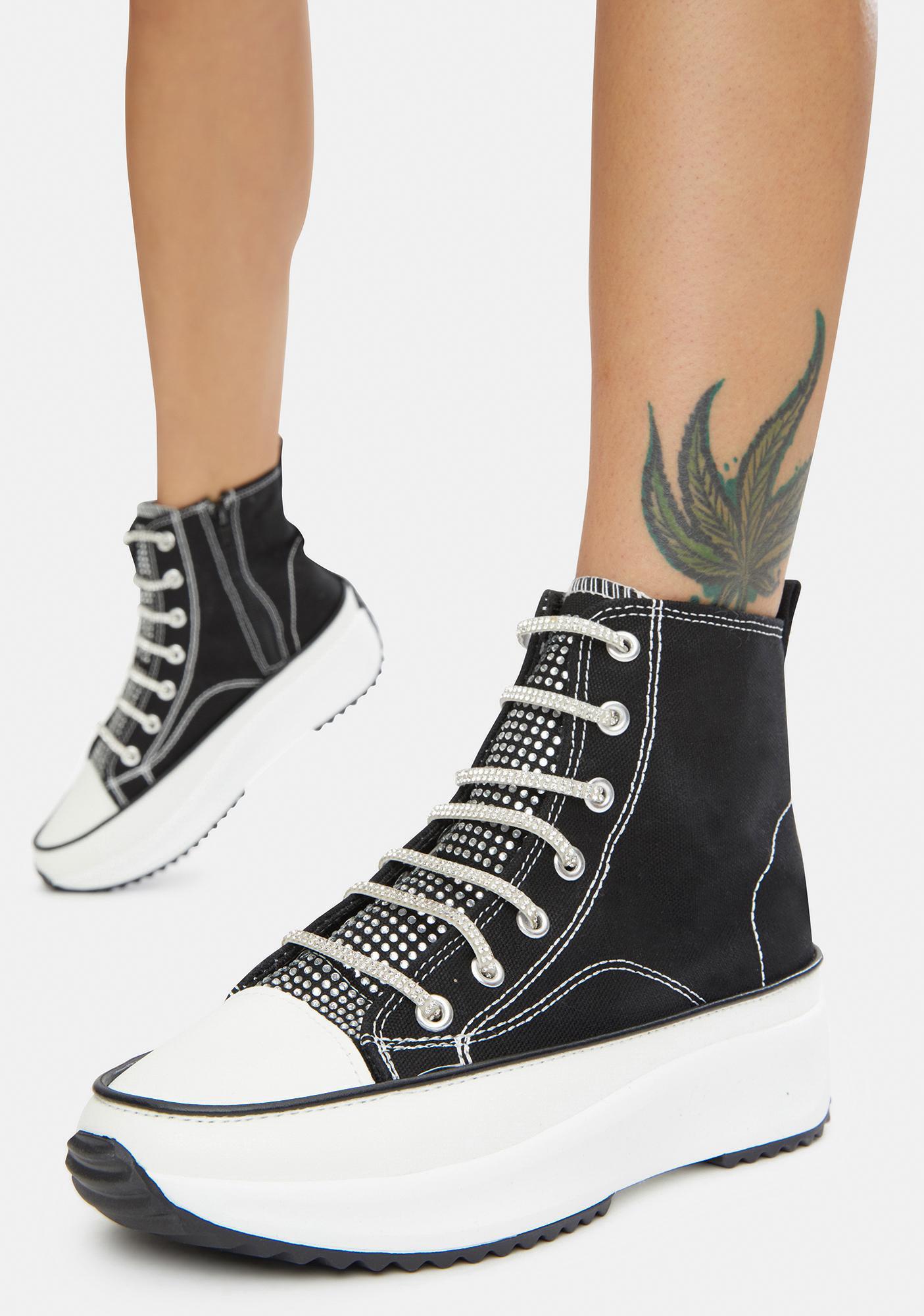 Noir Secret Keeper Hi Top Platform Sneakers