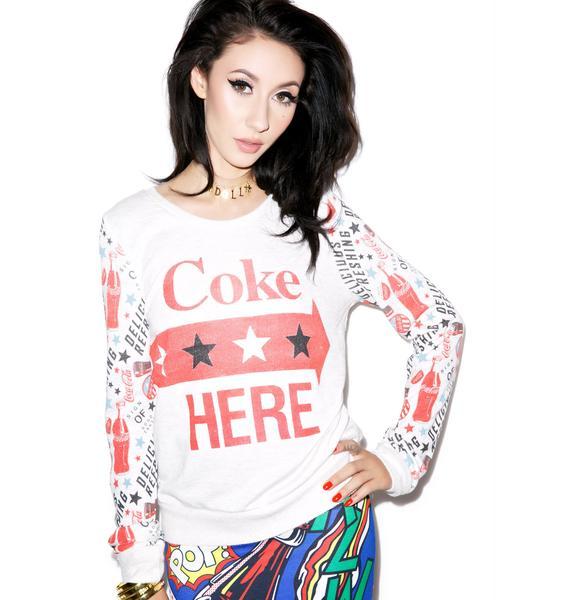 Coke Here Verbiage Sweater