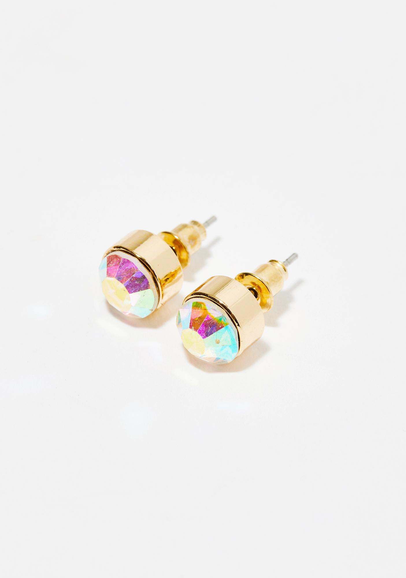 Stellar S Iridescent Earrings