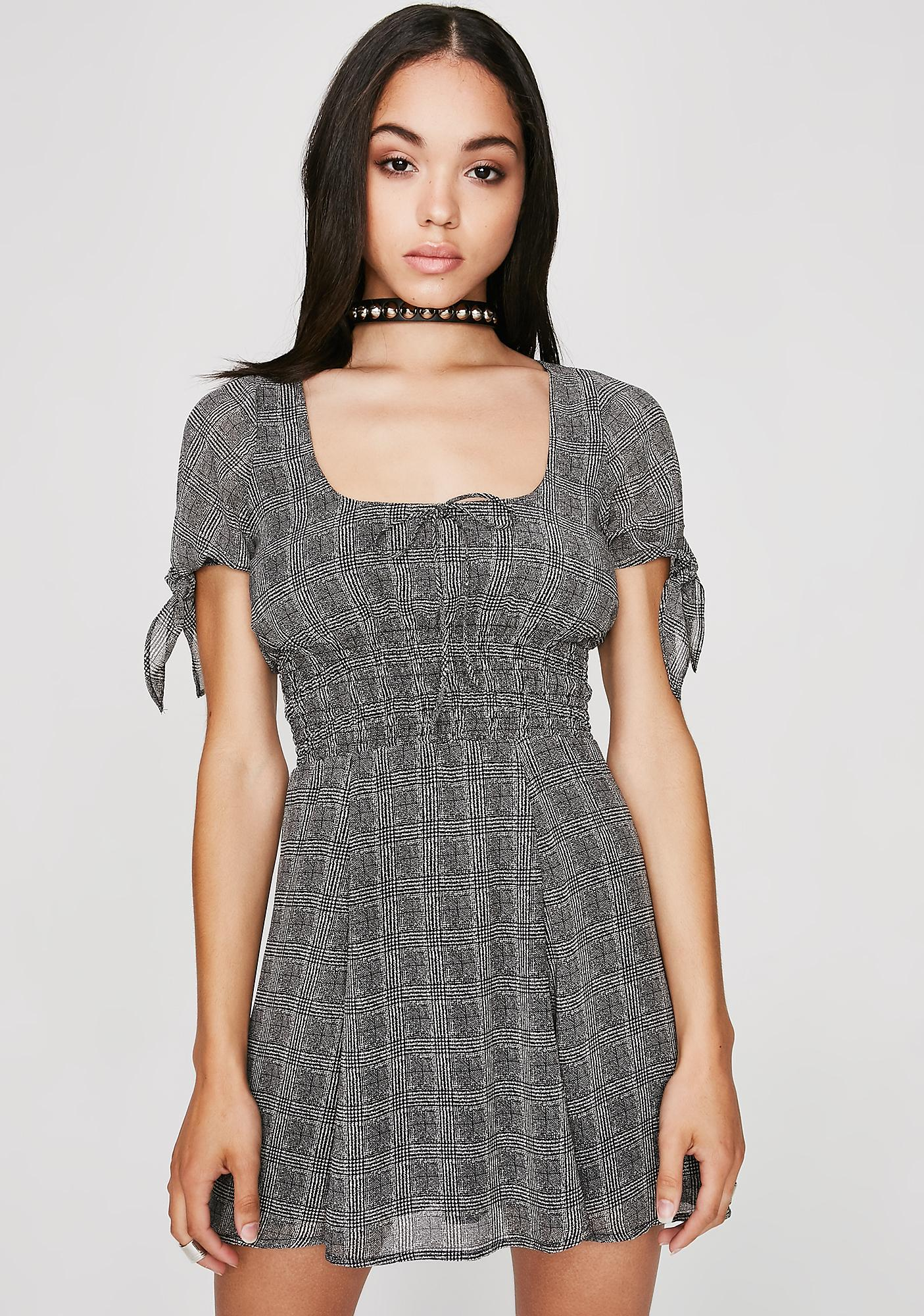 Good Behavior Plaid Dress