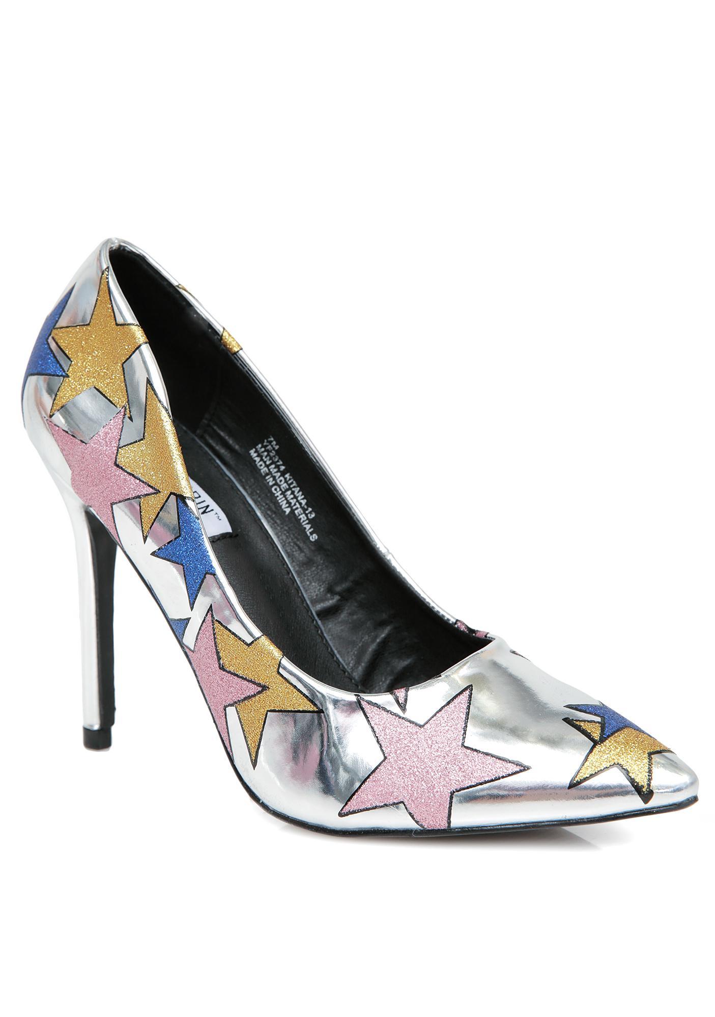 Glitter Galaxy Star Heels