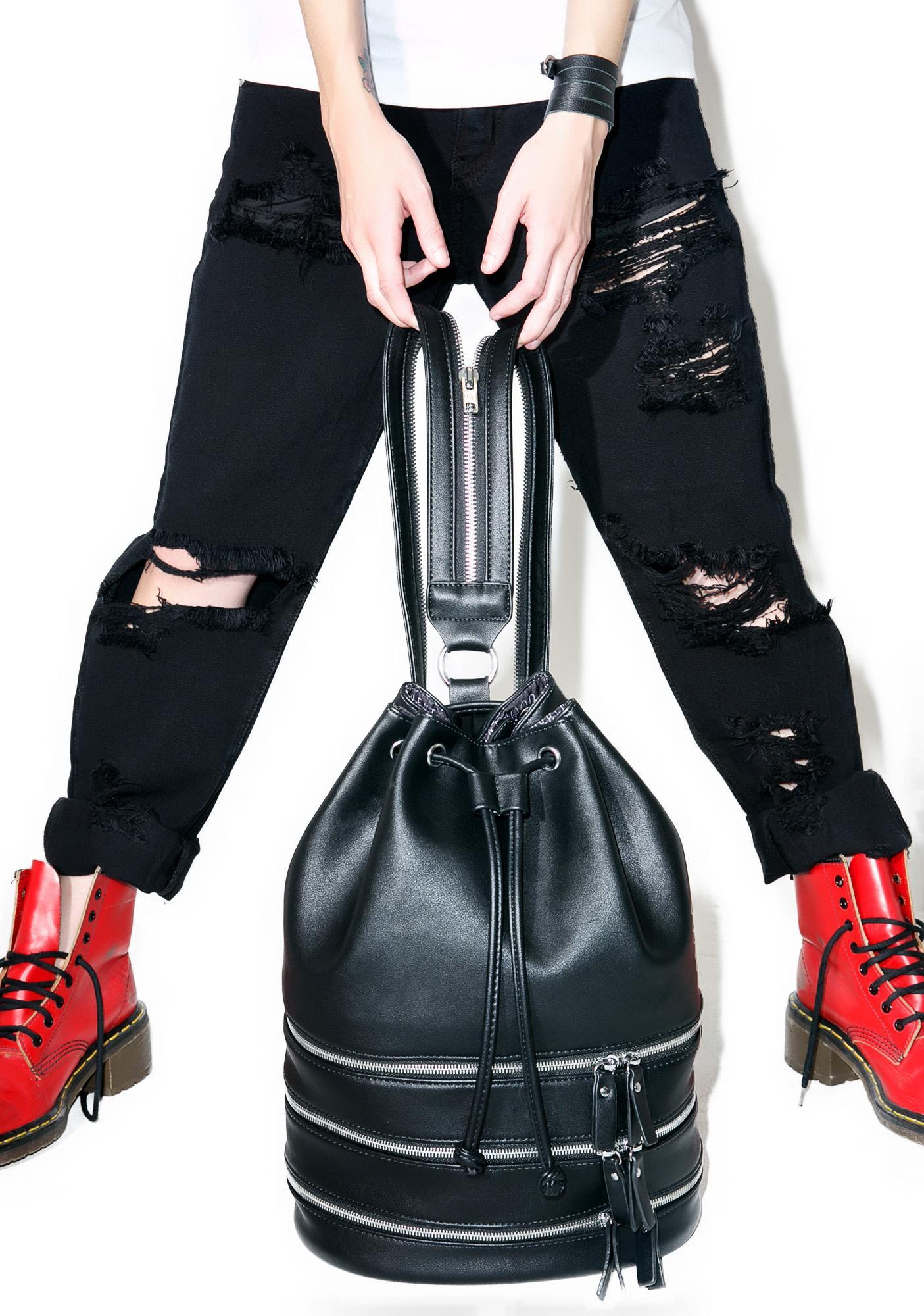 Current Mood Schwarz Bucket Bag