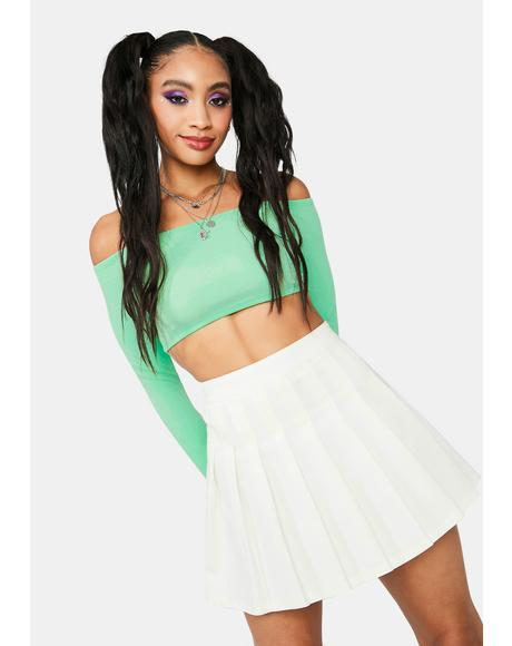 Make It Clear Pleated Mini Skirt