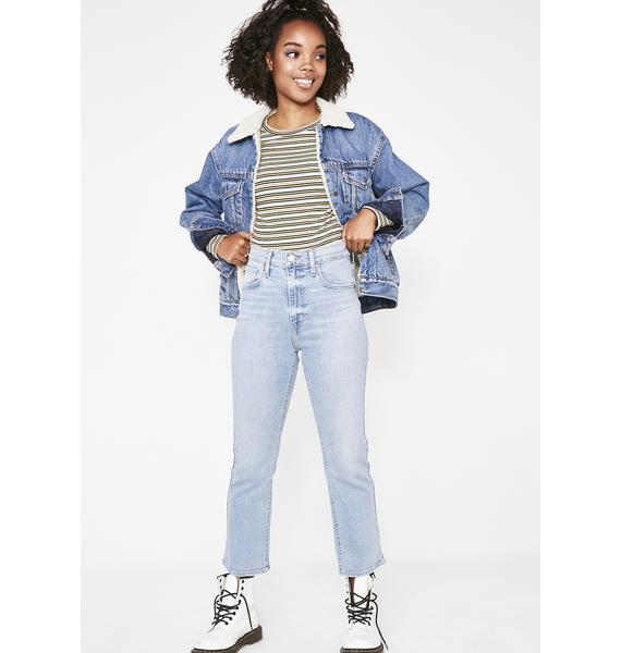 Levis Mile High Crop Flare Jeans