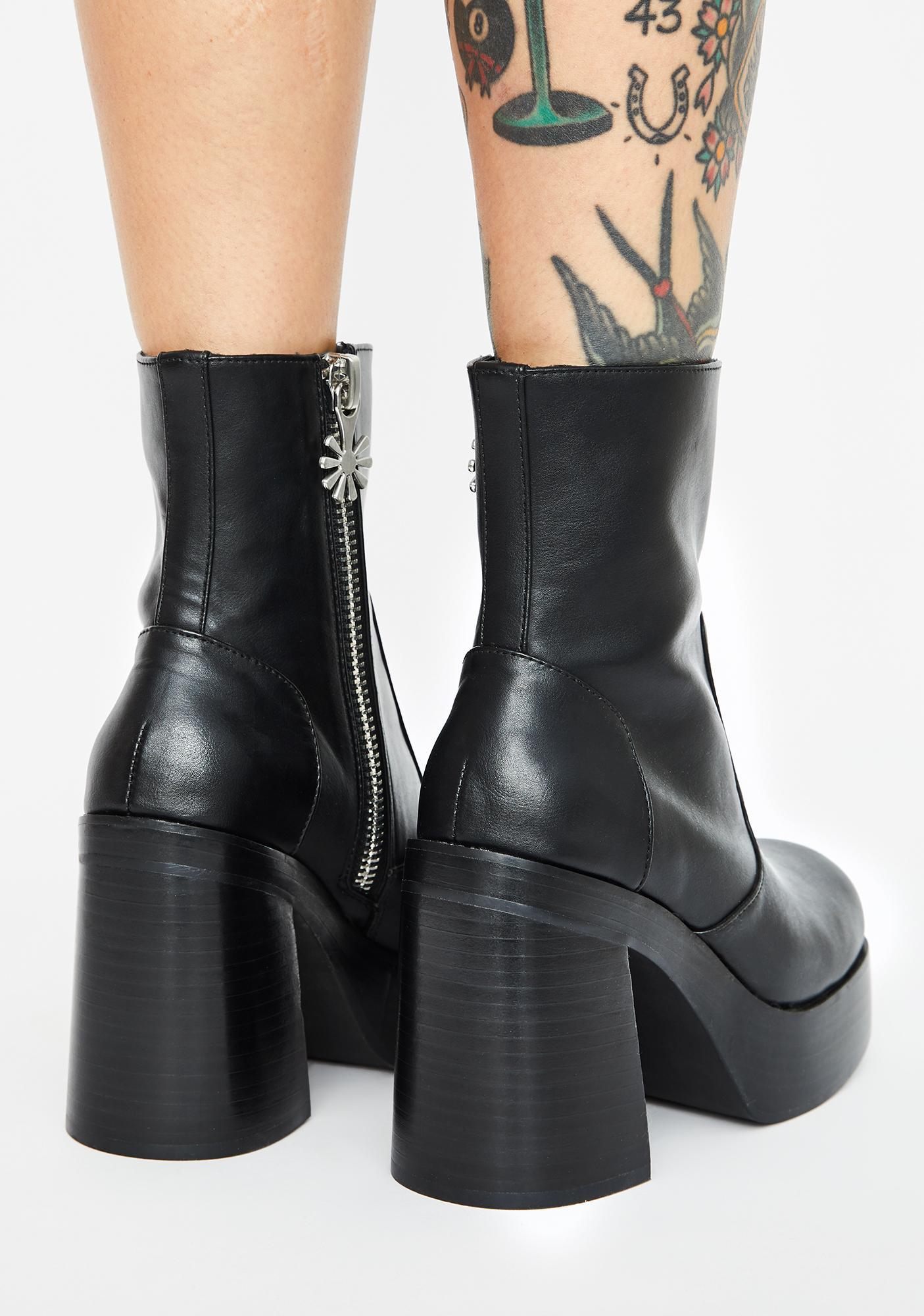 dELiA*s by Dolls Kill Chalkboard Confessions Platform Boots