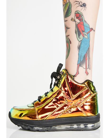 Qozmo Aiire Green Atlantis Sneakers