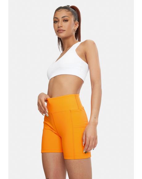Orange Sport Shorts