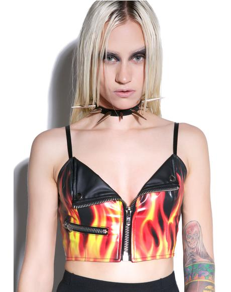 Flamin? Hot Moto Top