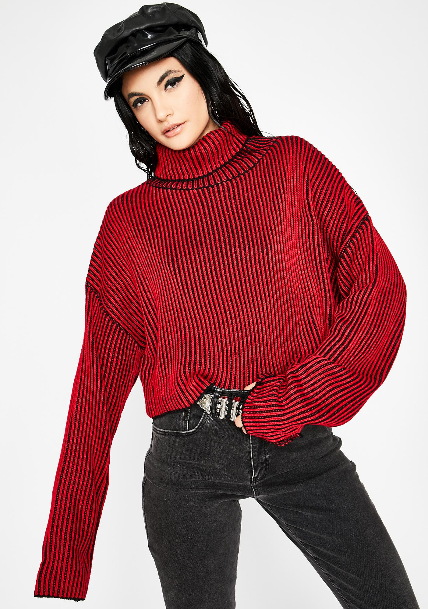 Hellish First Name Trouble Stripe Sweater