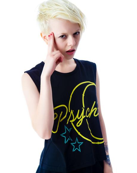 Psyched Out Crop Muscle Tank