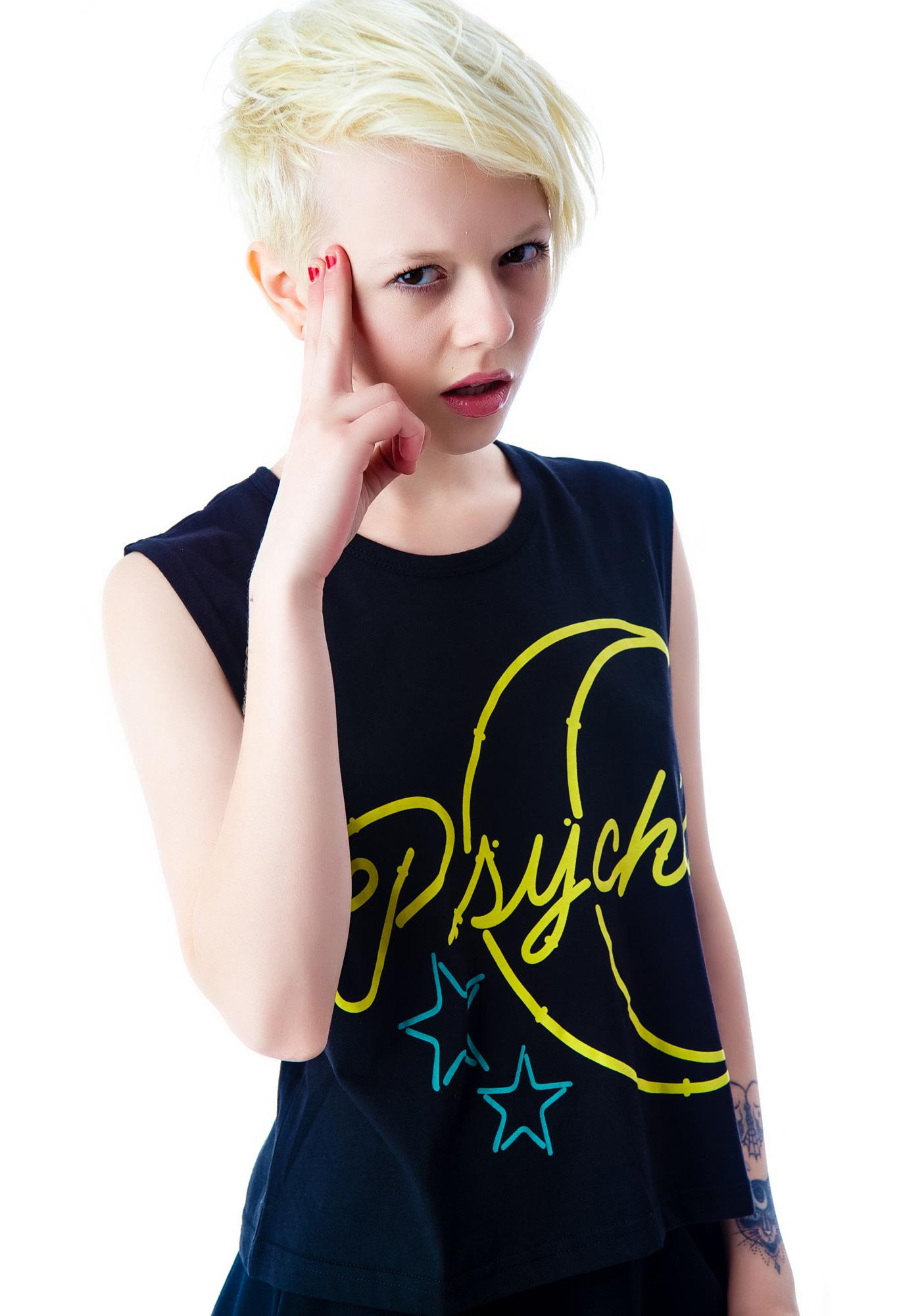 Evil Twin Psyched Out Crop Muscle Tank